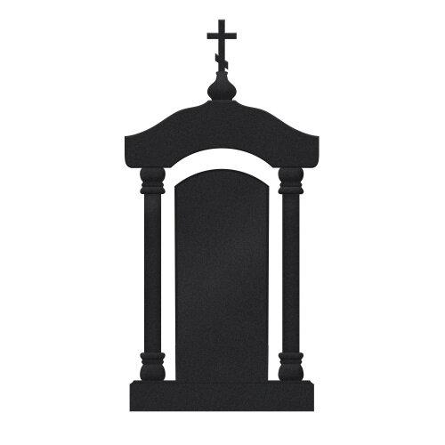 Памятник №24 арка (черный гранит Карелия)
