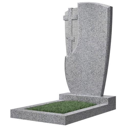 """Фигурный памятник класса """"эконом"""" №75 (темно-серый гранит)"""