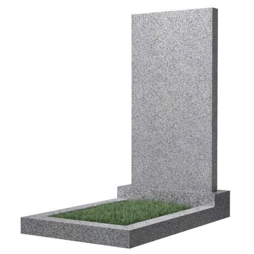 Памятник прямоугольный вертикальный 1000*500*50 (светло-серый гранит)
