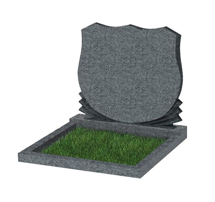 Семейный памятник №86 (светло-серый гранит)