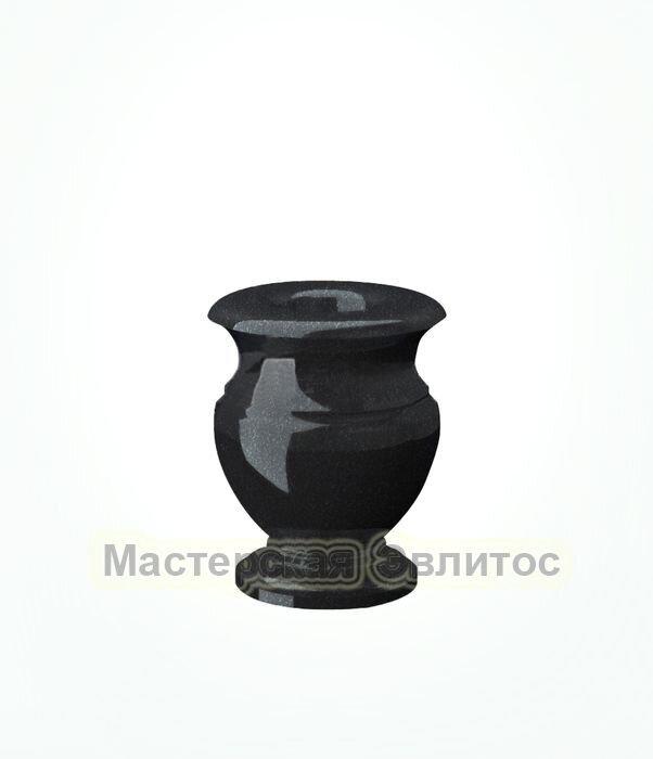 Ваза из черного гранита H200, D100 в Томске