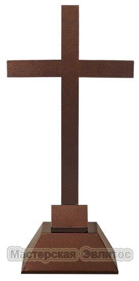 """Металлический памятник """"Крест католический большой"""""""