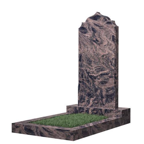 Памятник гранитный №19В (светло-серый) в Томске
