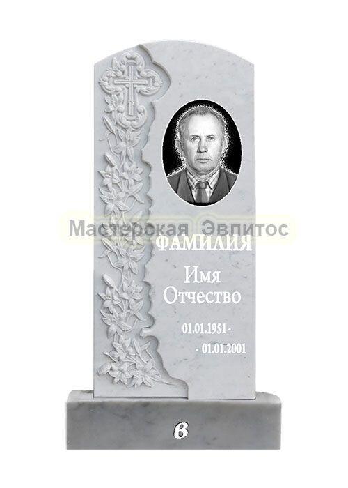 Фрезерованный памятник из мрамора Лилии В