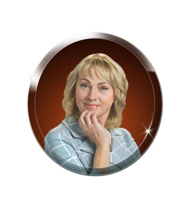 Портрет круглый на стекле №163