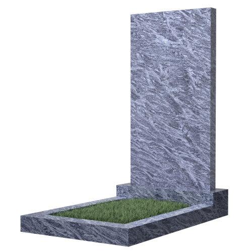 Памятник прямоугольный вертикальный 1000*500*50 (голубой гранит)