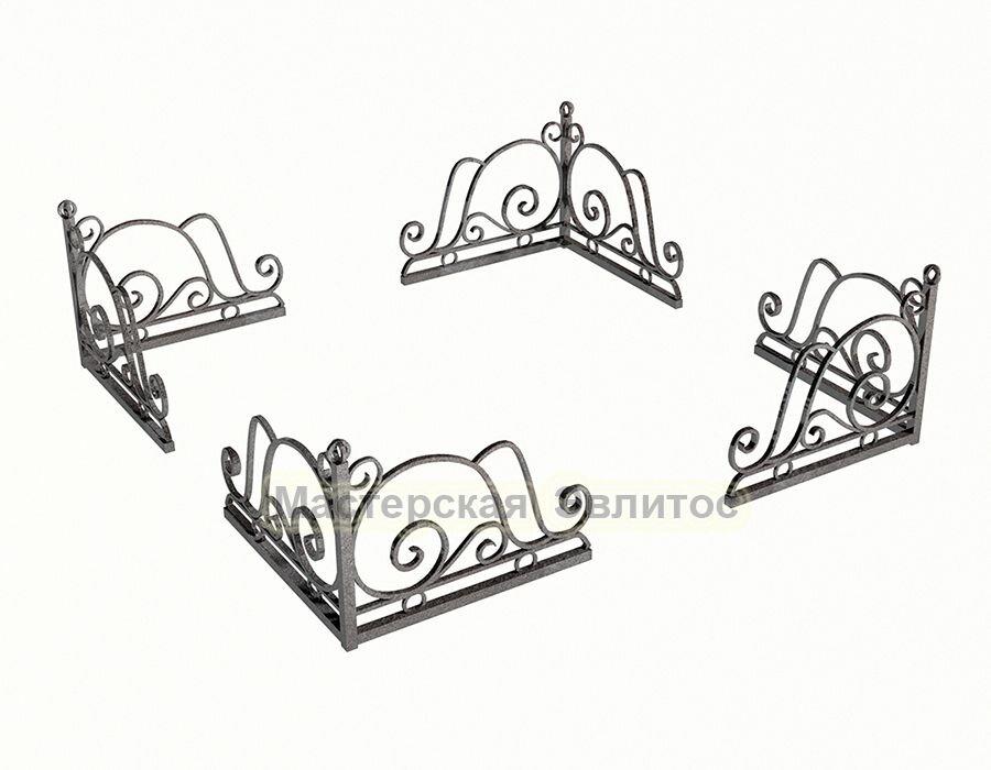 Уголок кованый на могилу №2