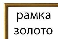 Прямоугольная рамка №1 (золотистая)