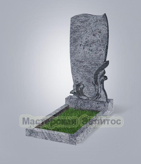 Памятник №34 (голубой гранит)