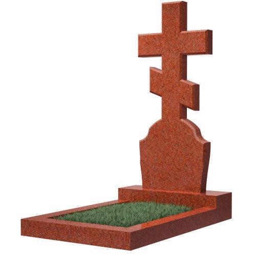 Гранитный крест из голубого гранита №40
