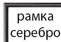 Прямоугольная рамка №3 (серебристая)