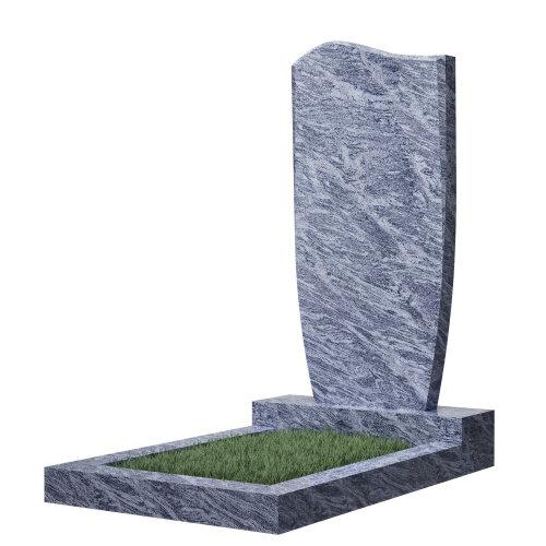 Памятник гранитный №21В (светло-серый) в Томске