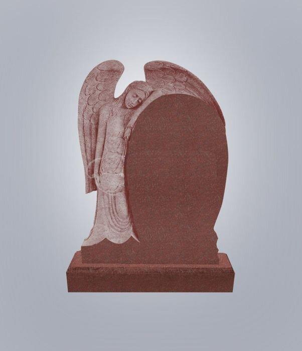 Памятник элитный №14 (красный гранит) в Томске