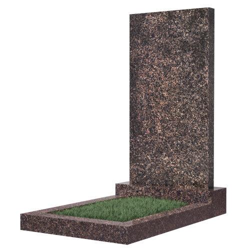 Памятник прямоугольный вертикальный 1000*500*50 (Дымовский гранит)