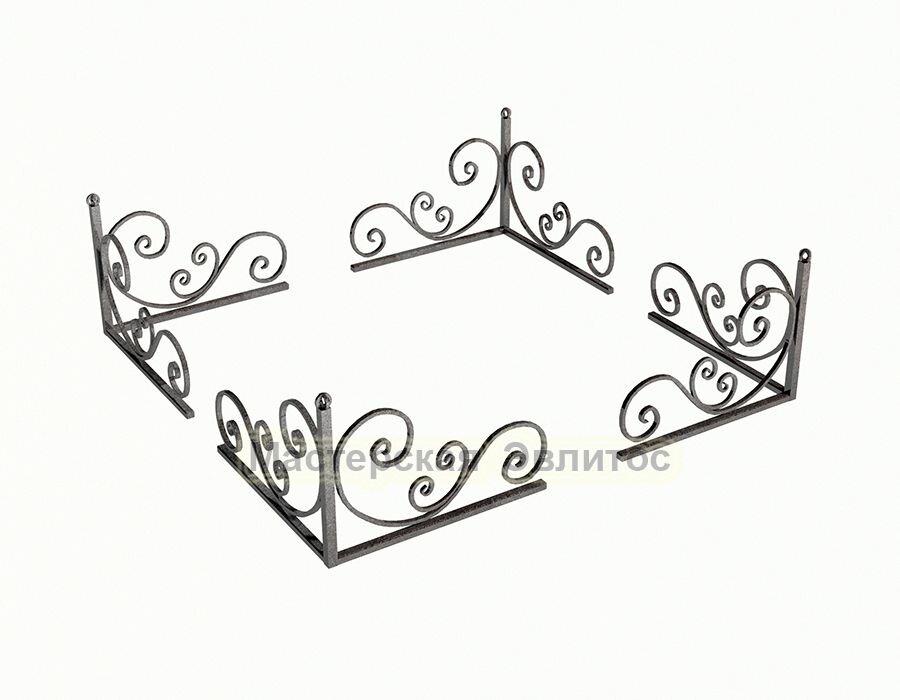 Уголок кованый на могилу №9