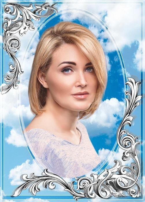 Портрет прямоугольный на стекле №172