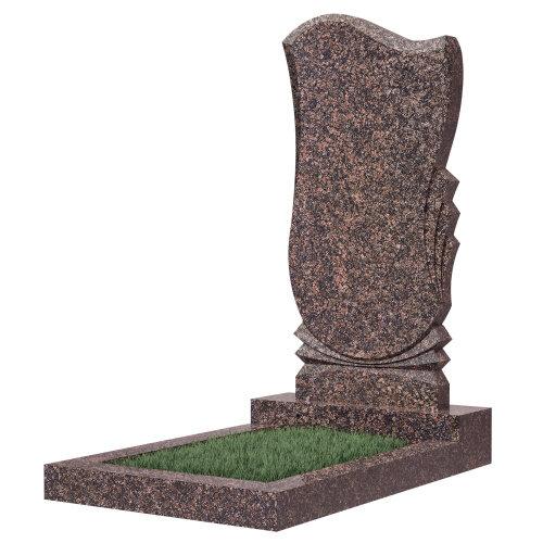 Памятник гранитный №56В (светло-серый) в Томске
