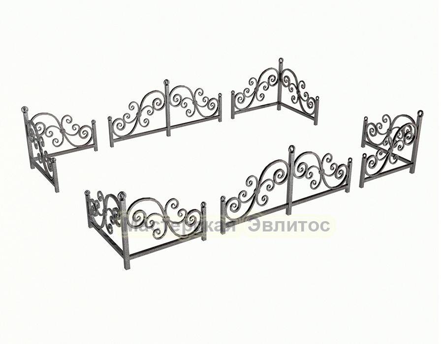 Уголок кованый на могилу №10