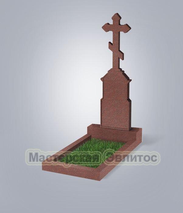 Памятник №70 (красный гранит)