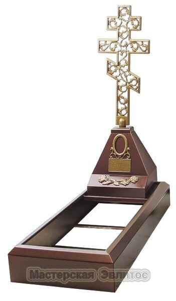 """Металлический памятник комплект """"Крест средний"""""""