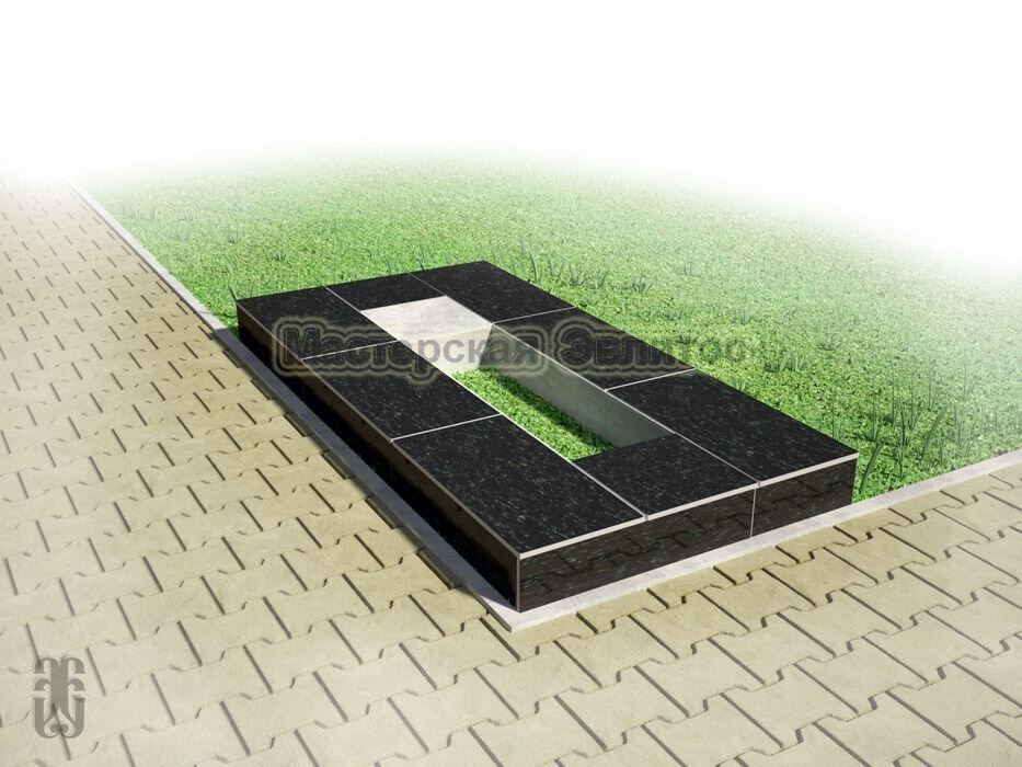 Надгробие из черного гранита №2
