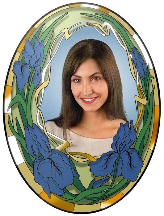Портрет овальный на стекле №176А