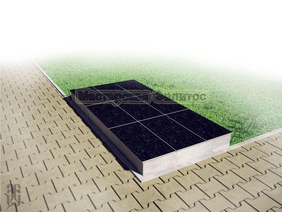 Надгробие из черного гранита №3