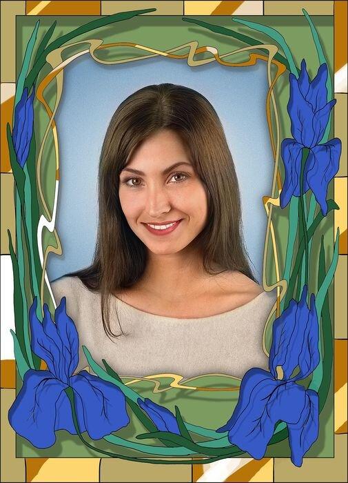 Портрет прямоугольный на стекле №176B в Томске