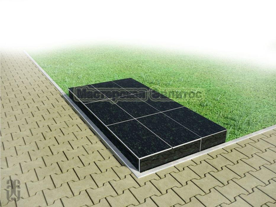 Надгробие из черного гранита №4