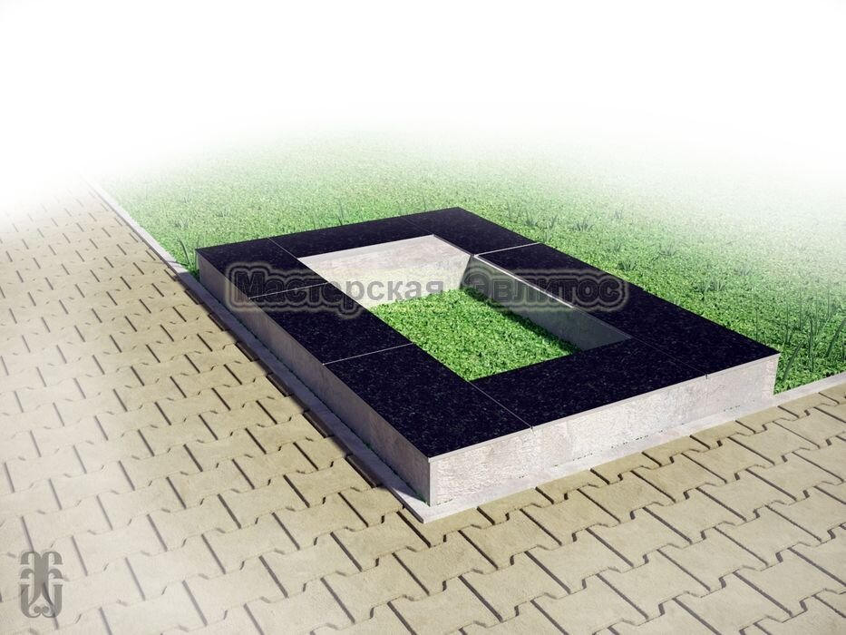 Надгробие из черного гранита №5