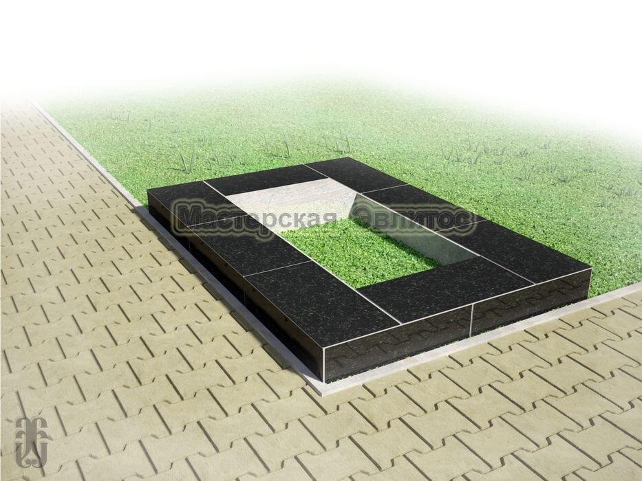 Надгробие из черного гранита №6