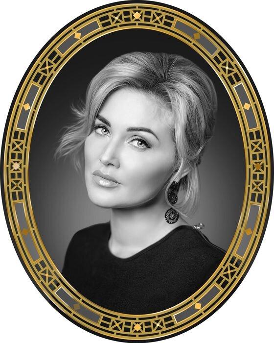 Портрет овальный на стекле №178A