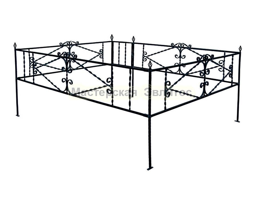Металлическая ограда Т2