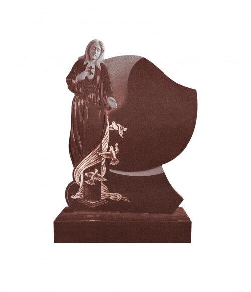 Памятник элитный №18 (голубой гранит) в Томске