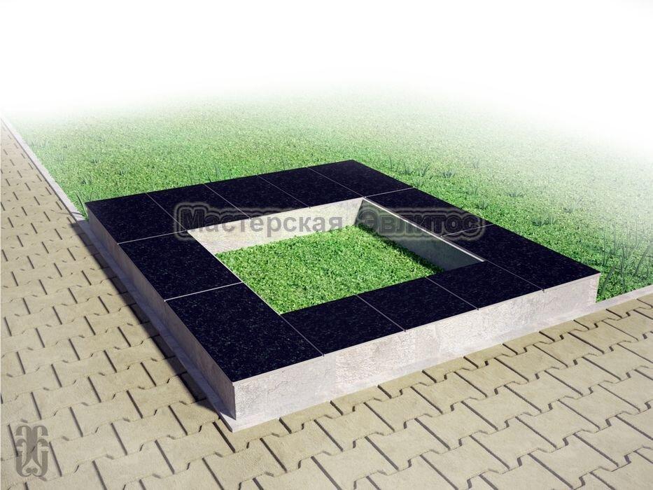 Надгробие из черного гранита №9