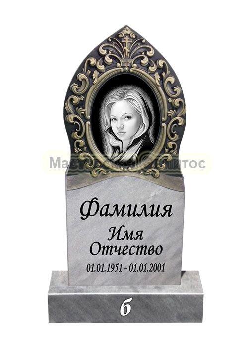 Памятник из мрамора Рамка 6Б (фрезерованный) в Томске
