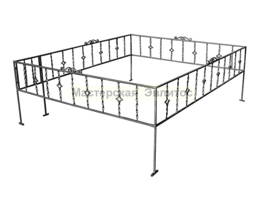 Металлическая ограда Т5