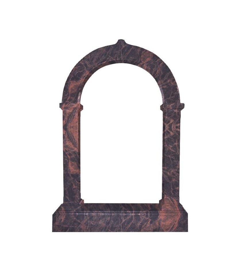 Памятник №4 арка (коричневый гранит)