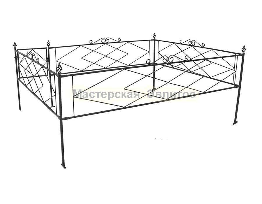 Металлическая ограда Т6