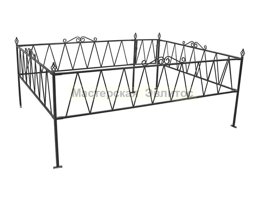 Металлическая ограда Т7
