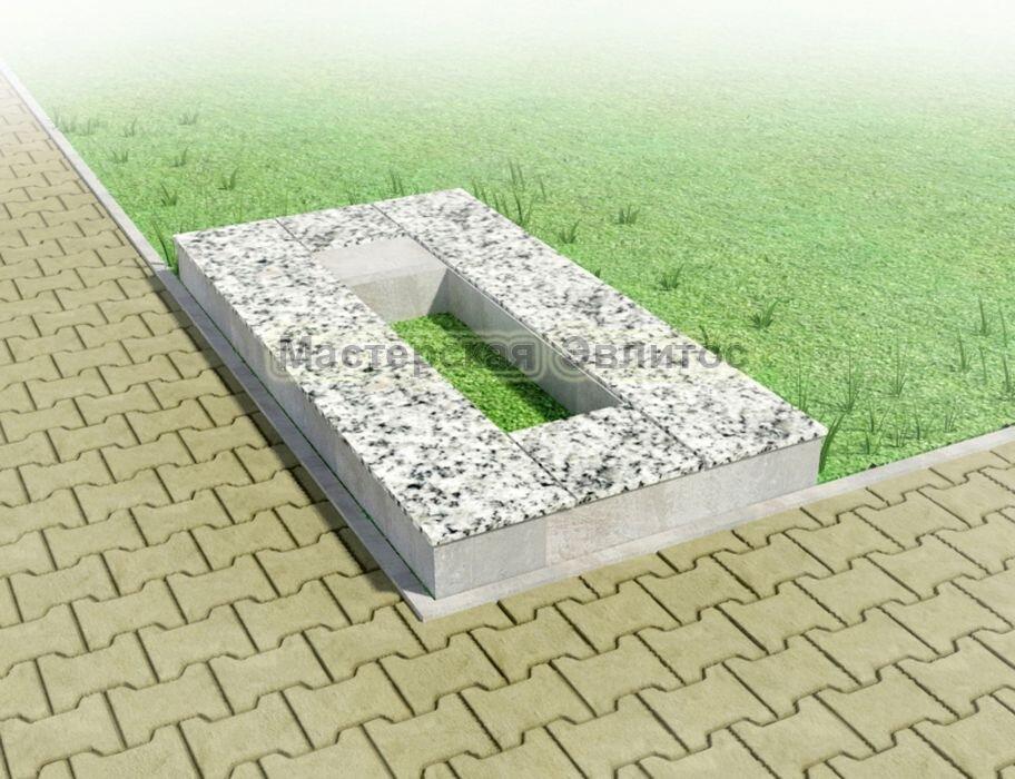 Надгробие из серого гранита №1
