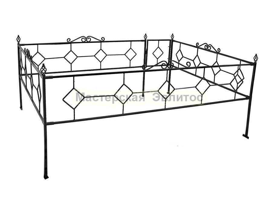Металлическая ограда Т8