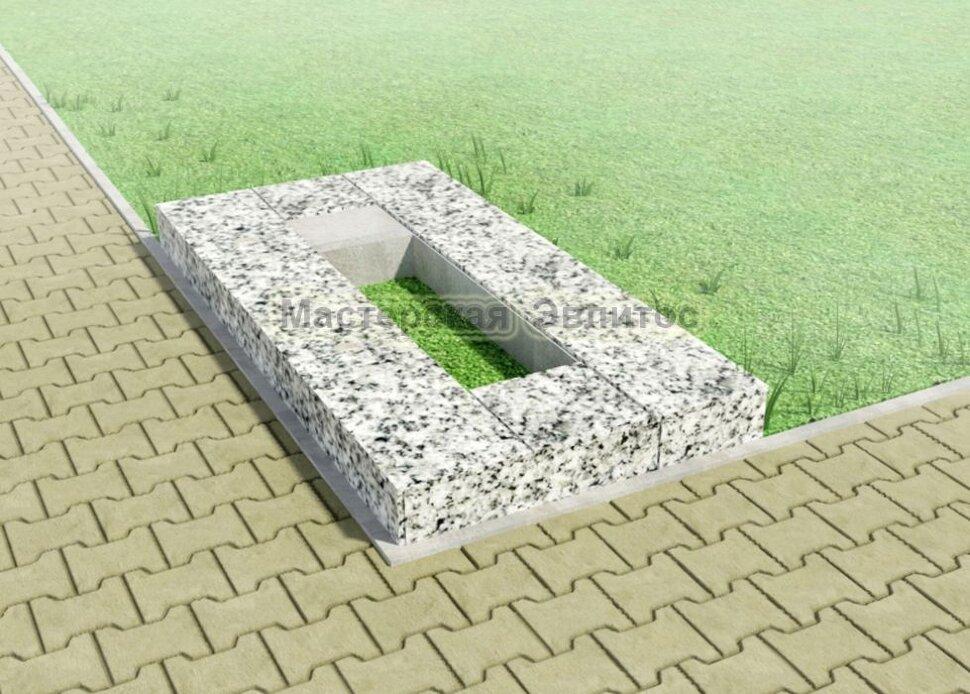 Надгробие из серого гранита №2