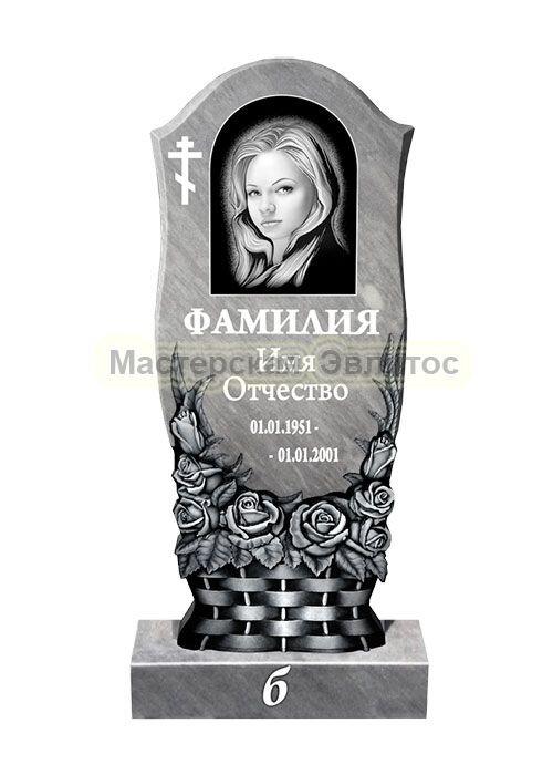Памятник из мрамора Корзинка 2Б (фрезерованный) в Томске