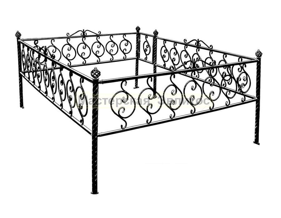 Металлическая ограда Т10