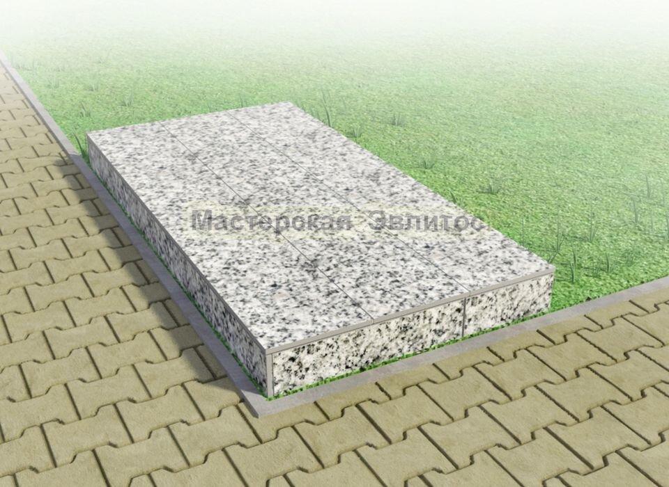 Надгробие из серого гранита №4