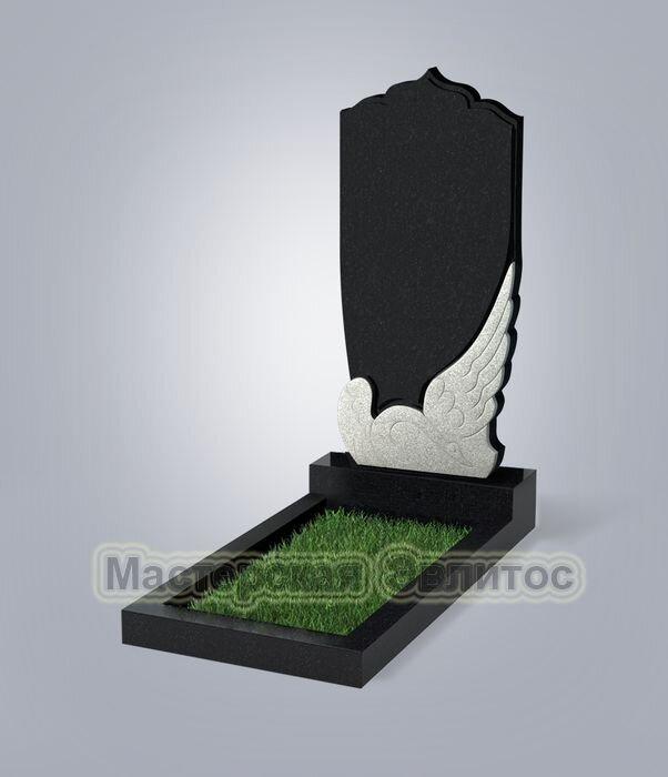 Памятник №49E (черный гранит)