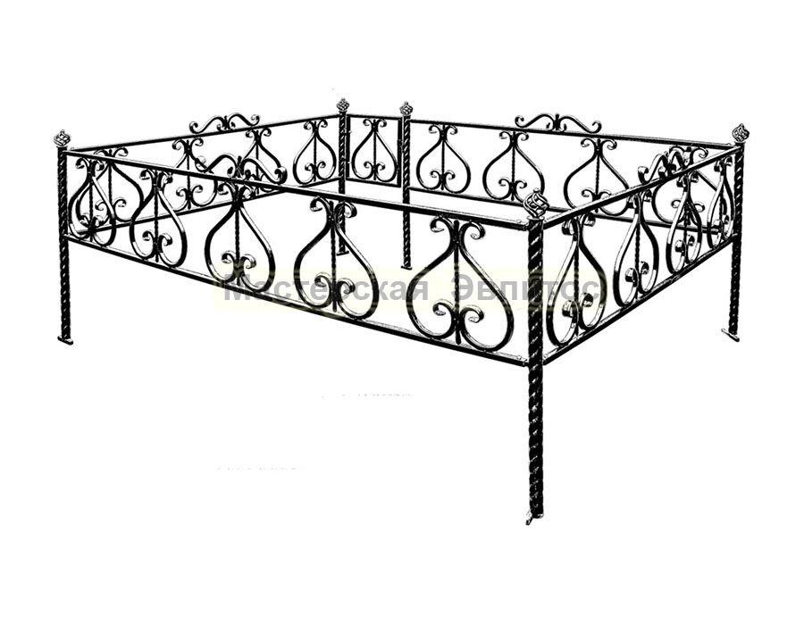 Металлическая ограда Т11