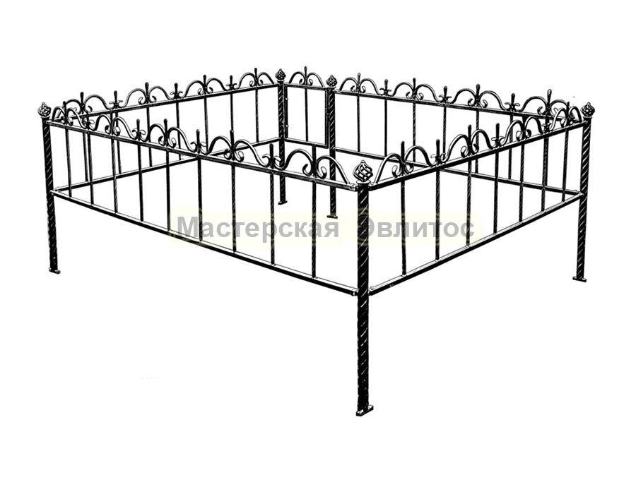 Металлическая ограда Т12