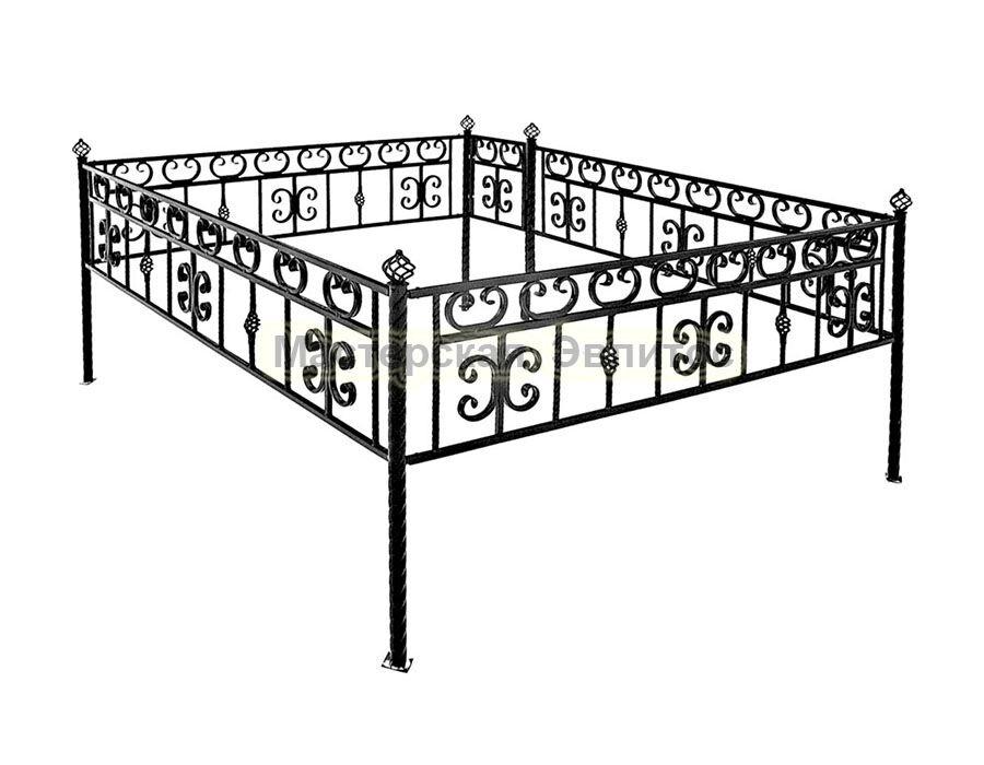 Металлическая ограда Т13